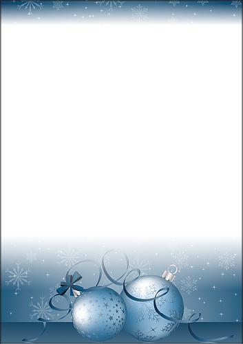 weihnachtsbriefpapier weihnachtskugeln in blau a4. Black Bedroom Furniture Sets. Home Design Ideas