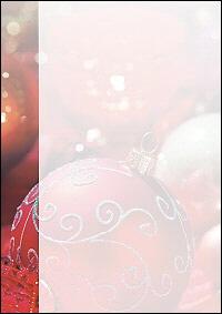 weihnachtsbriefpapier rote weihnachtskugel a4. Black Bedroom Furniture Sets. Home Design Ideas