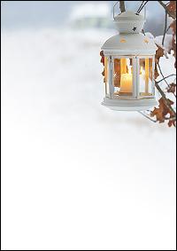 weihnachtsbriefpapier laterne am baum a4. Black Bedroom Furniture Sets. Home Design Ideas