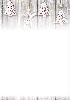 weihnachtsbriefpapier holzdekoration a4 weihnachtskarten. Black Bedroom Furniture Sets. Home Design Ideas