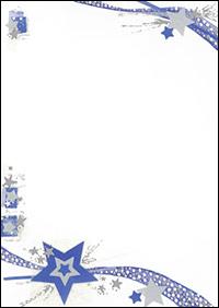 weihnachtsbriefpapier weihnachtssterne blau a4. Black Bedroom Furniture Sets. Home Design Ideas