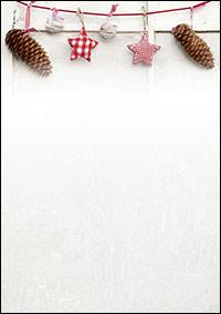 weihnachtsbriefpapier mit tannzapfen und sternen a4. Black Bedroom Furniture Sets. Home Design Ideas
