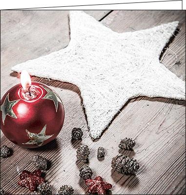 weihnachtskarten sch ne stern kerzenstimmung mit couvert. Black Bedroom Furniture Sets. Home Design Ideas