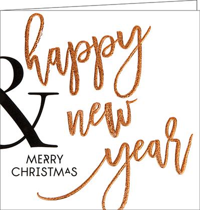 weihnachtskarten happy new year 02 150 x 150 mm mit. Black Bedroom Furniture Sets. Home Design Ideas