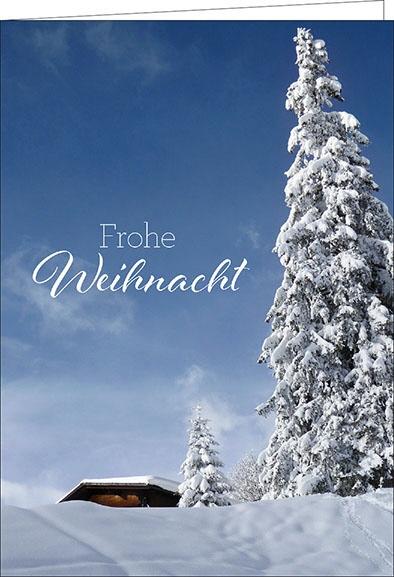 weihnachtskarten frohe weihnacht winterlandschaft a5 hoch. Black Bedroom Furniture Sets. Home Design Ideas