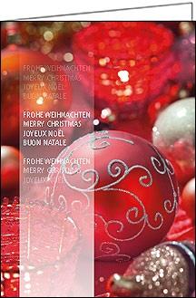 weihnachtskarten mit roter weihnachtskugel und text a5. Black Bedroom Furniture Sets. Home Design Ideas